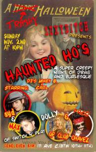 Haunted Hos Halloween Flyer
