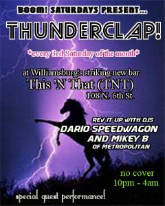 THUNDERCLAP Flyer - No Date