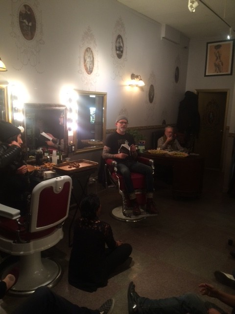 10-24-15 Reading from barber chair