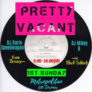 DJ Flyer-Pretty Vacant